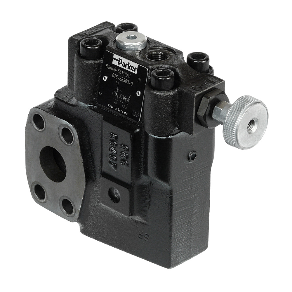 Hydraulic Pressure Control Valves Pilotoperated Relief Circuits Valve Parker Pilot Operated Reducing Series R5r With Sae Flange Ensure A Constant In The Secondary Part Of System